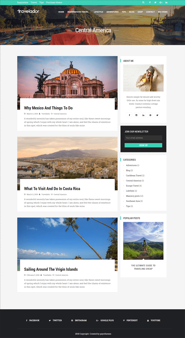 Wordpress blog travel guide