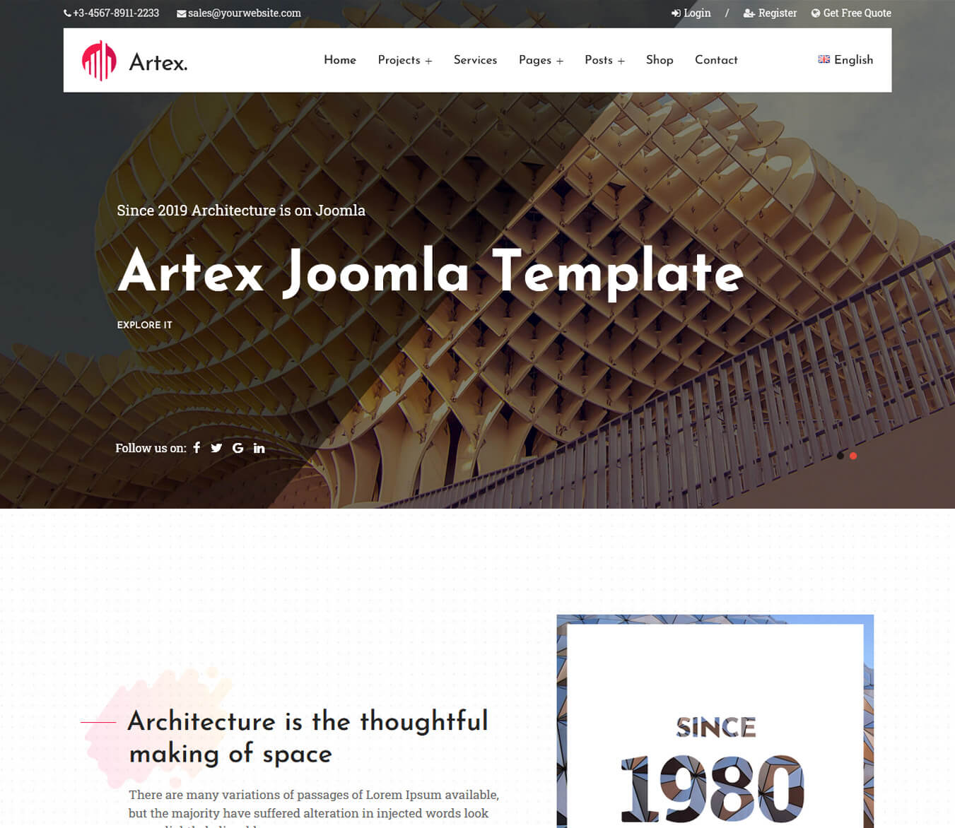 Artex - Architecture & Interior Design Joomla Template
