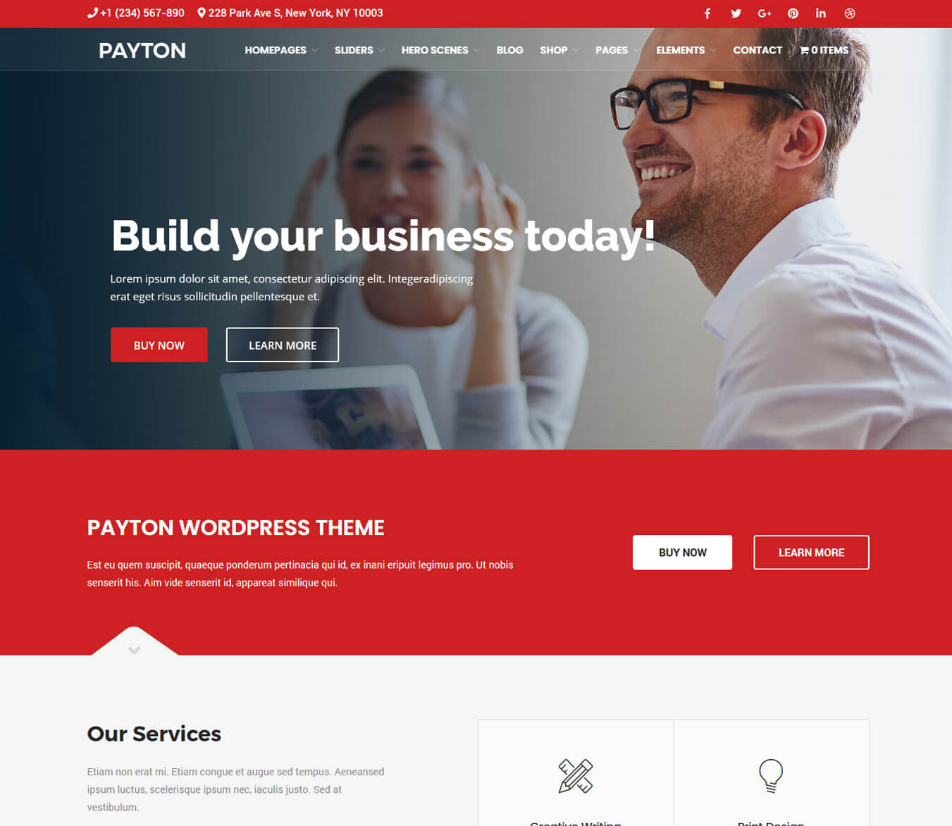 Payton - Multipurpose Business & Creative Joomla Template