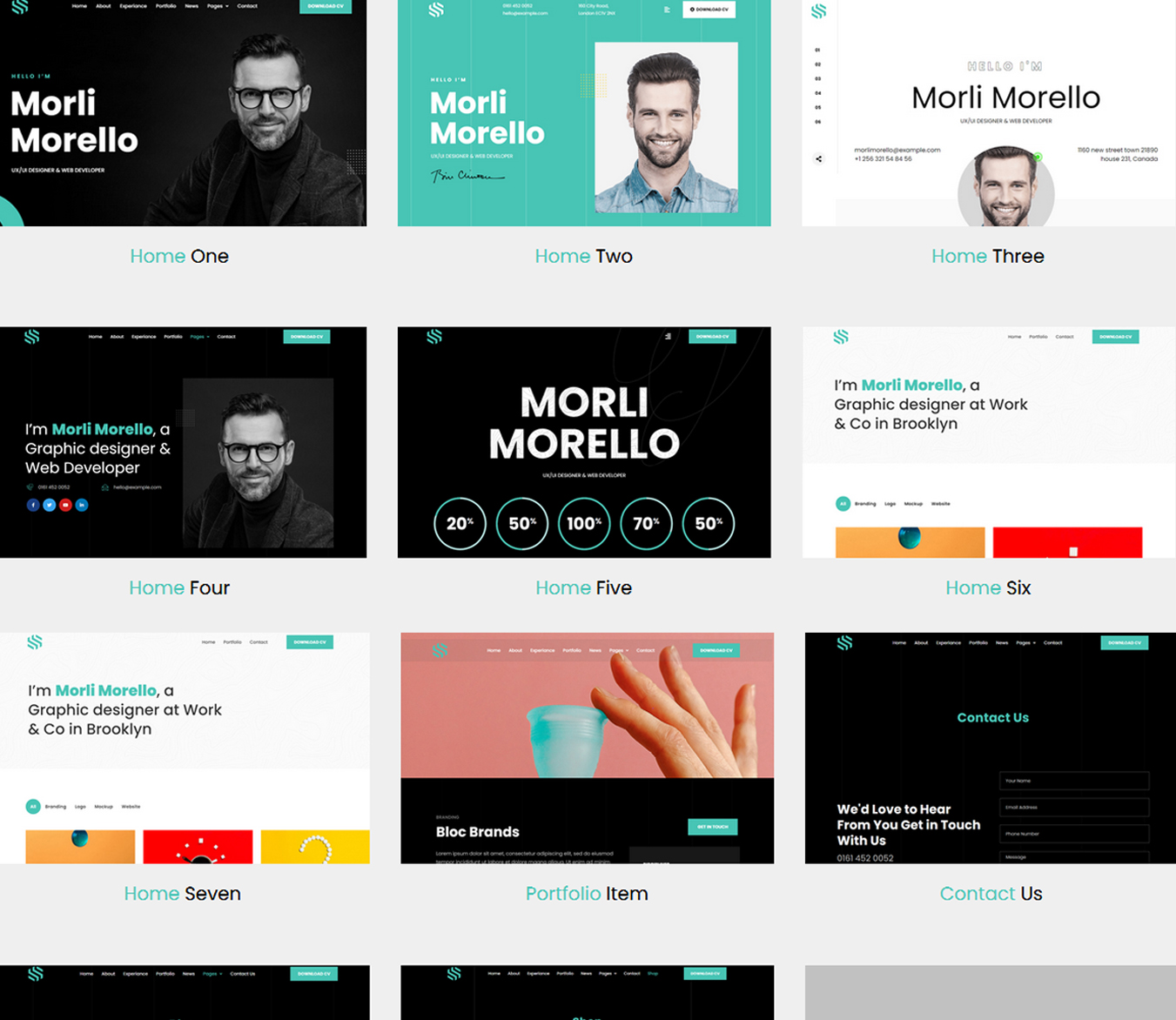 Sonx - Personal Resume and Portfolio WordPress Theme​