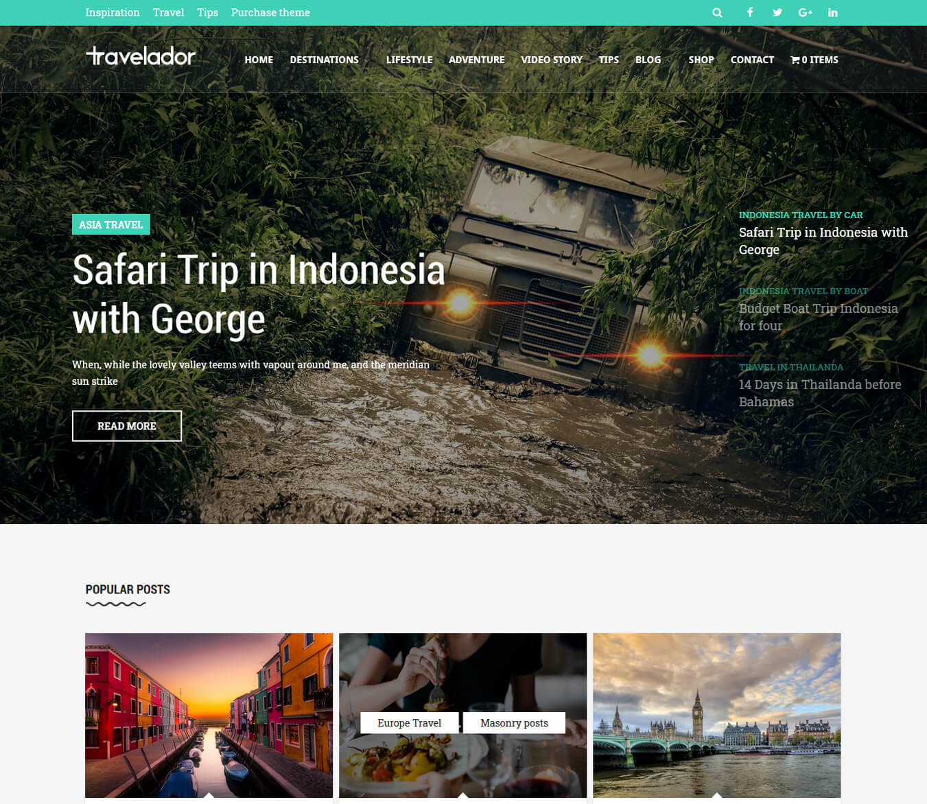 Travelador - Blog Tourism & WooCommerce Shop Theme