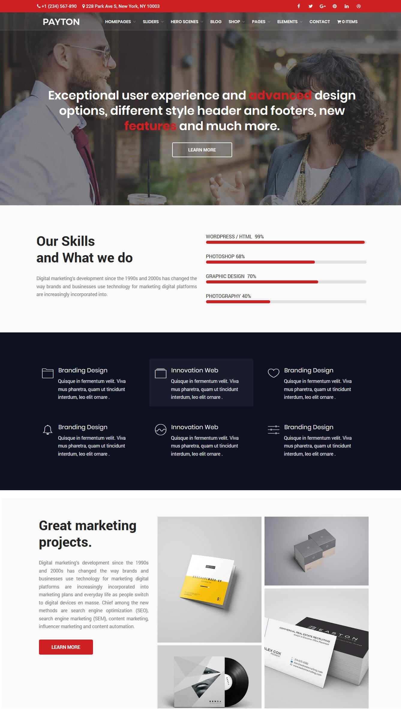 Payton - Business Creative WordPress Multipurpose Theme - 3