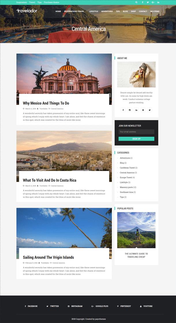 Wordpress blog travel guide